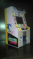 Sonic Arcade Coin Bank by spaceman022