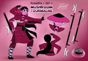 Commission - Mushroom Tourmaline (Fusion) by Geminine-nyan