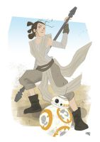 Rey and BB-8 by DenisM79