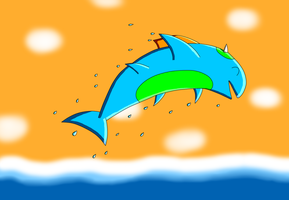 Hypra shark digitalized by Kiddo-the-dragon
