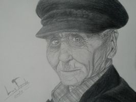 old man on graphite by zaick13