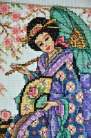 Geisha Close Up by VickitoriaEmbroidery
