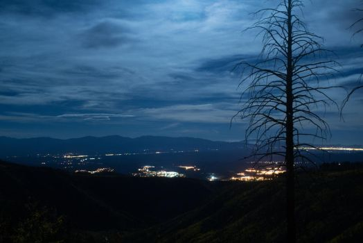Moonlit Clouds over the Valley by Odnoder