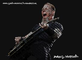 James Hetfield Typography by shadowchoper