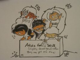 Artists for sale -unfinished- by MissDrawsAlot