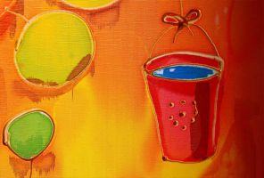 Orange tree Fragments Bucket by Vereteno