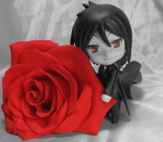 Red Eyes and Roses by parkforestelf