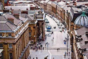 Grey St. from the monument by svendo