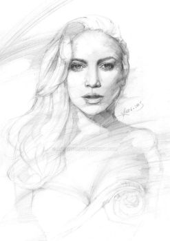 Figure Drawing Portrait 5 by AnAn5538