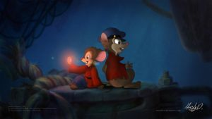 Fievel and Mrs. Brisby - Sharing by Maxl654