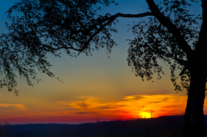 Over  Hills Sunset by marrciano