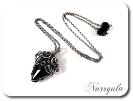 Darkness - silver pendant by nurrgula