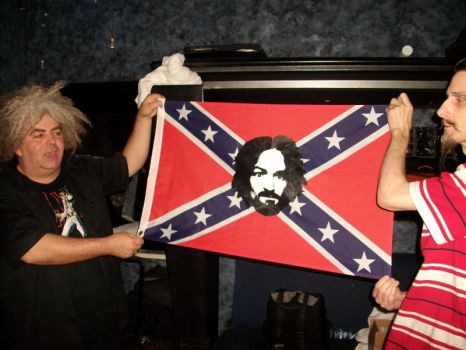 My RARE printed MansonRebel Flag to the  MELVINS! by ADGoresFreakFactory