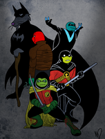 Teenage Mutant Robin Turtles by ninja-doodler