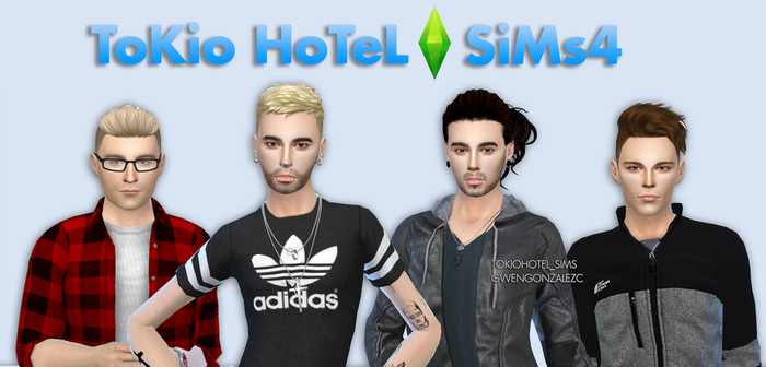 TOKIO HOTEL sims 4 I by GwenGC