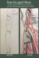Draw This Again Meme: Fem!Alucard by MySweetheart333