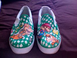 Custom shoes - Super Mario by Sleek1988