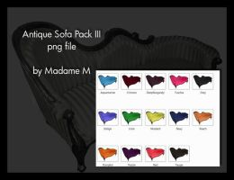 Antique sofa pack 3 by MadameM by Cutoutstock
