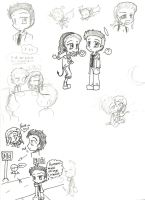 SuperNatural Castiel and Beth by GDI1