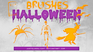 +BRUSHES Halloween 1 by JustGlassLight