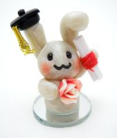 Grad Bunny by SmallCreationsByMel