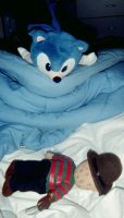Freddy vs Sonic After....... by DreamRevolution