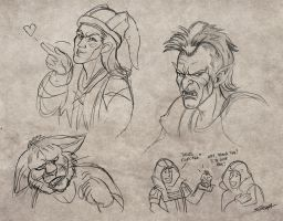 Skyrim Scribbles by SlayerSyrena