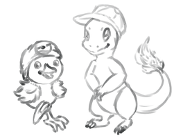 Fire Starters With Hats (WIP) by Amiookamiwolf