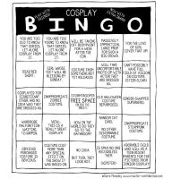 79. Cosplay Bingo by comicalclare