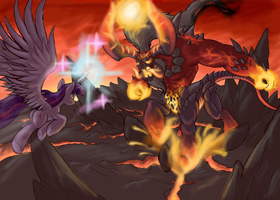 Twilight vs Tirek (HoMM style) by CyrilUnicorn