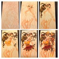 Autumn fairy coloring process by Tanis711