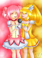 Madoka and Peace by Milchwoman
