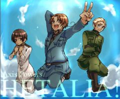 APH: Japan, Germany and Italy by Cornelia-chan