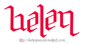 Belen Ambigram by DarkoJuan