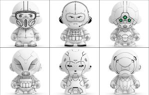 Munny Sketches by MattNeutron