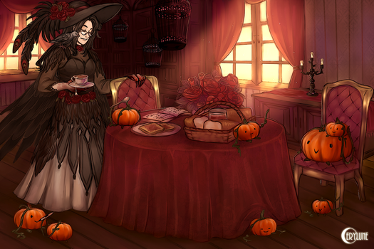 Pigeon Witch by Cerylune