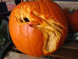 Fire-Breathing Dragon Pumpkin by OoZepheroO