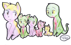 Reverse and babies by Hollsterweelskitty