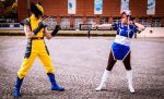 Chun Li vs Wolverine by devils-daughterJJ