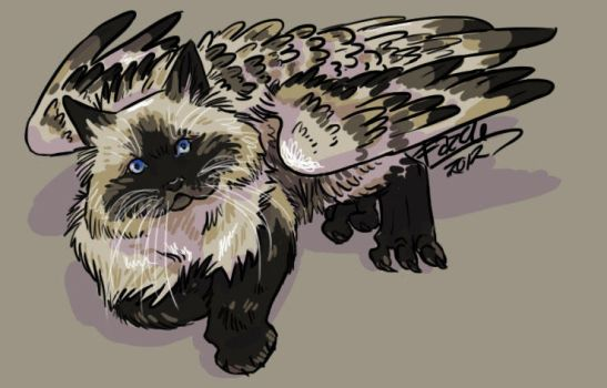 Cat Faced Himi Gryph by fazzle