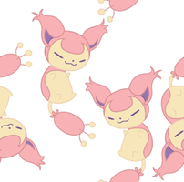 Tiled Skitty background by cappydarn