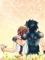 Trade: Zack x Aerith by thecapturedspy