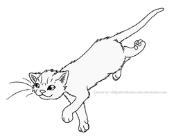 RiverClan Lineart 2 by WildpathOfShadowClan