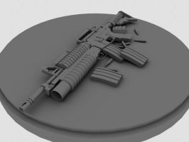 M4 Carbine WIP by 3DFunkee