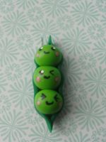 Kawaii Clay Pea Pod by CraftyOlivia
