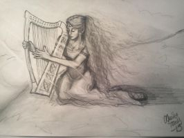 the harp player by tonez2