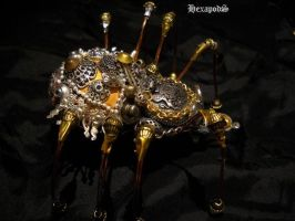 Biomechanic Golden Latrodectus by SpiffsHexapodS