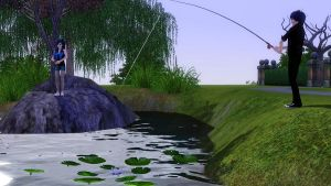 Fishing :D by TheSims3KawaiiMaker