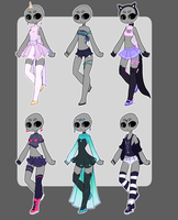Outfits random 2 CLOSED by Lunathyst