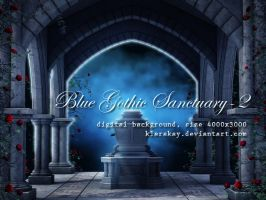 Blue Gothic Sanctuary-2 by KlaraKay